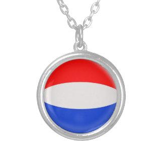 "Necklace + 18"" chain Holland Dutch flag"