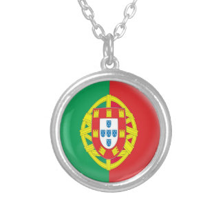 """Necklace + 18"""" chain Portugal flag"""