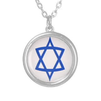 """Necklace + 18"""" chain Star of David flag"""