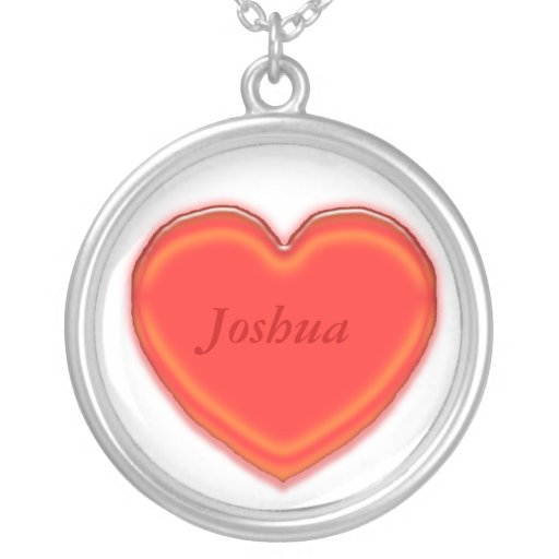 Necklace - 3D heart with name