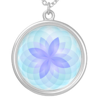 Necklace abstract lotus flower
