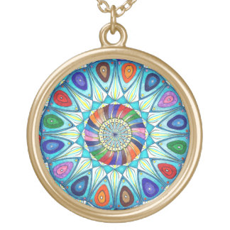 Necklace abstract mandala drawing