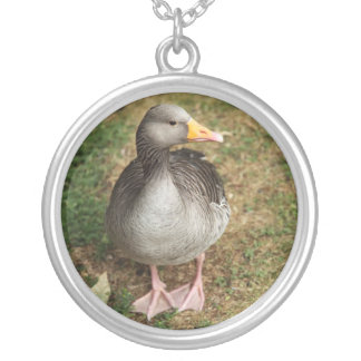 Necklace-Animals-The Greylag Goose Silver Plated Necklace