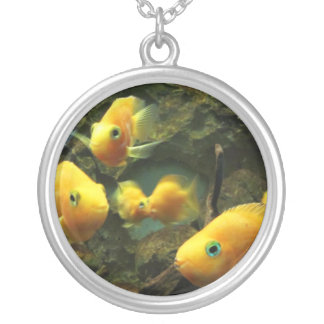 Necklace-Animals-Yellow Fish Silver Plated Necklace