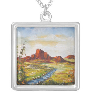 Necklace Ann Hayes Painting Red Rock Canyan