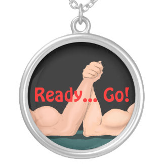Necklace Arm Wrestling arm-wrestler's Ready..Go!