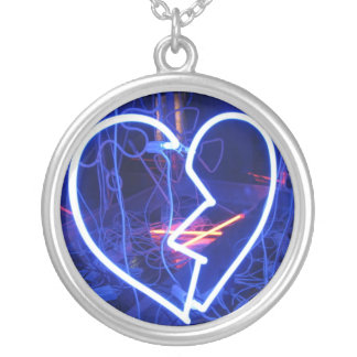 Necklace-Art of Love-Heart Breaker Silver Plated Necklace