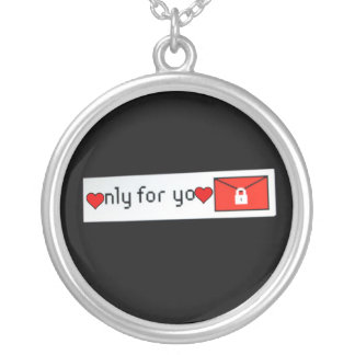 Necklace-Art of Love-Only For You Silver Plated Necklace