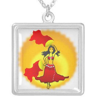 necklace belly dancer fan gypsy tribal fusion