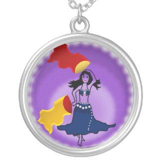 necklace belly dancer fan gypsy tribal love