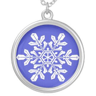 Necklace Blue Snow Flake