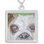 Necklace, Bulldog Art