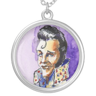 Necklace Caricature of The King Rock & Roll music