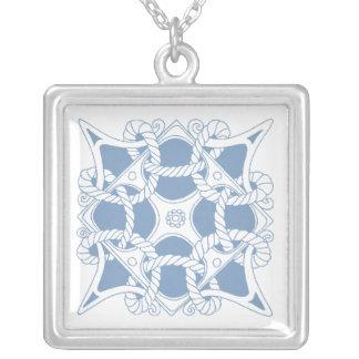 Necklace Celtic Knot Mariner Seafaring Ocean Blue
