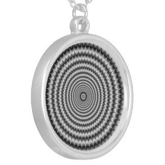Necklace  Circular Explosion in Silver