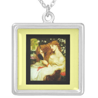 Necklace-Classic Art-Dante-Lady Lillith Rossetti Silver Plated Necklace