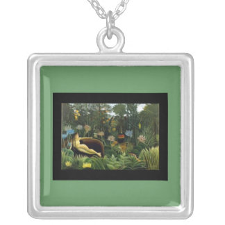 Necklace-Classic Art-Henri Rousseau-The Dream Silver Plated Necklace