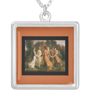 Necklace-Classic Art-Janmot-Rays of the Sun Silver Plated Necklace