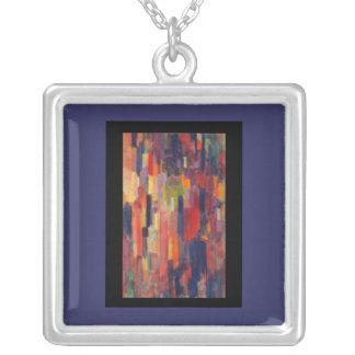 Necklace-Classic Art-Kupka-Among Verticals Square Pendant Necklace