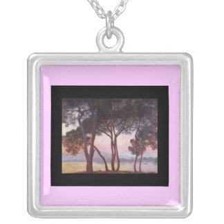 Necklace-Classic Art-Monet-Pines Silver Plated Necklace
