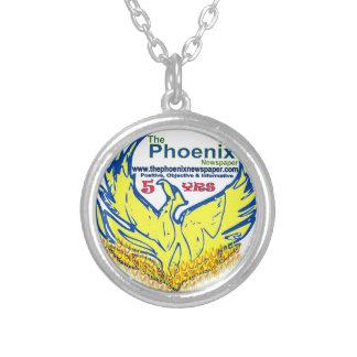 necklace-customized-phoenix newspaper launch round pendant necklace
