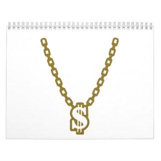 Necklace dollar calendar