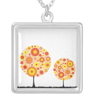 Necklace - Flower Wishing Tree Orange
