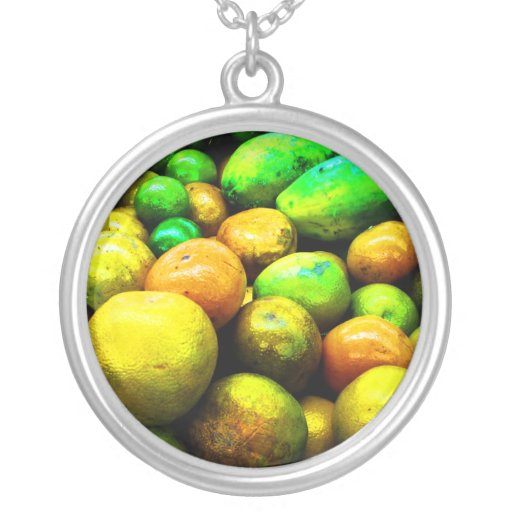 Necklace-Food/Drink-40 Round Pendant Necklace