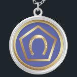 "Necklace: Germanna Foundation Logo Silver Plated Necklace<br><div class=""desc"">Germanna Foundation Logo Necklace</div>"