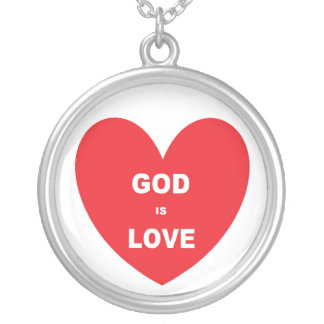 Necklace God Is Love Red Heart