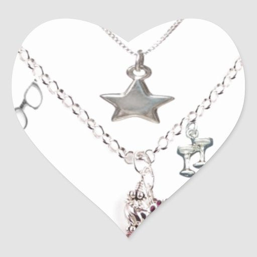 Necklace Heart Sticker