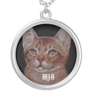 Necklace Initials Template - Cat