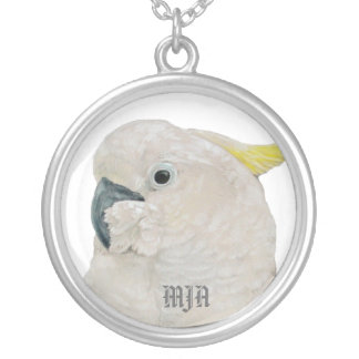 Necklace Initials Template - Cockatoo Parrot