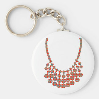 NECKLACE Jewel Graphic on GIFTS by NAVIN JOSHI Basic Round Button Keychain