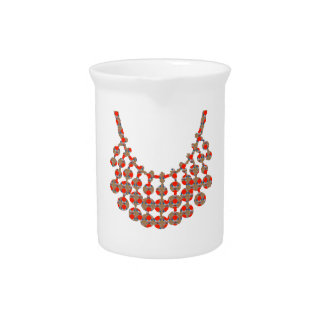NECKLACE Jewel Graphic on GIFTS by NAVIN JOSHI Drink Pitcher
