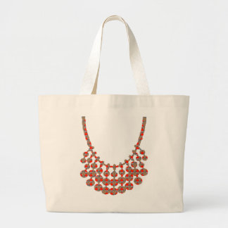 NECKLACE Jewel Graphic on GIFTS by NAVIN JOSHI Large Tote Bag