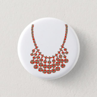 NECKLACE Jewel Graphic on GIFTS by NAVIN JOSHI Pinback Button