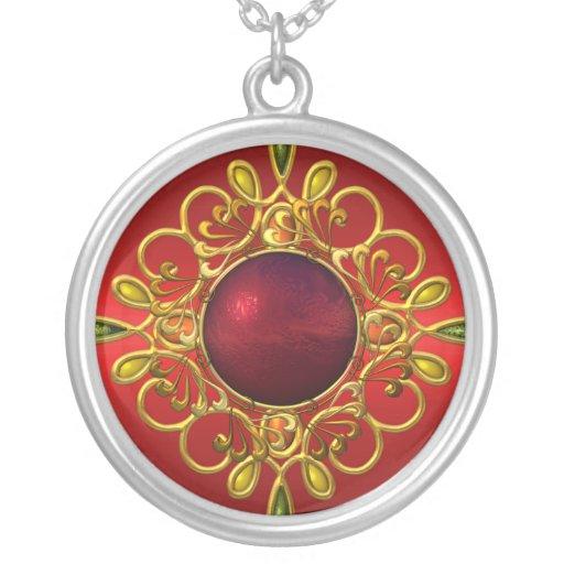 Necklace Jewelled Red Custom Jewelry