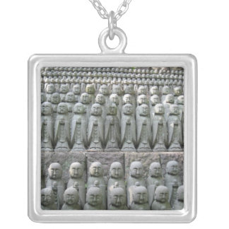 Necklace-Jizo Rows Silver Plated Necklace