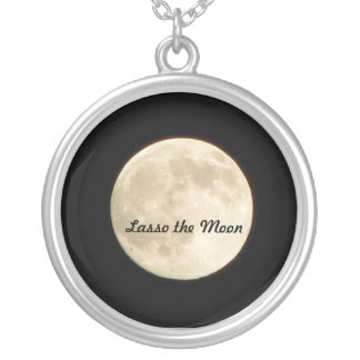 Necklace- Lasso the Moon Round Pendant Necklace
