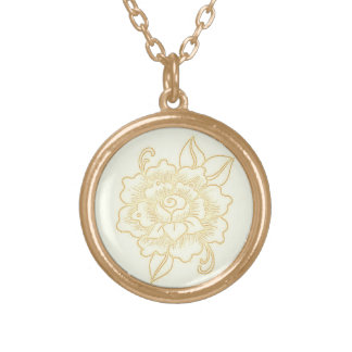 Necklace-light-gold-henna-rose Gold Plated Necklace