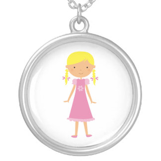 Necklace Little Girl with Blonde Braids