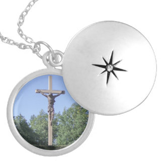 Necklace Locket - Cross in the Woods