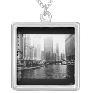 Necklace-Love Art House-Downtown 3 Silver Plated Necklace