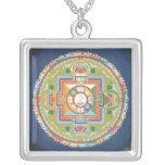 NECKLACE Mandala Avalokiteshvara silver & pendant
