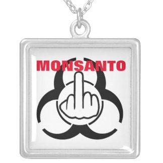 Necklace Monsanto Bio Hazard Flip