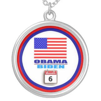 Necklace - Obama/Biden 2012 - Round