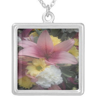 Necklace Pink Lily Beauty