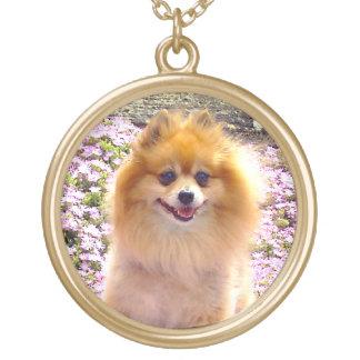 Necklace | Pomeranian Mauve Flowers