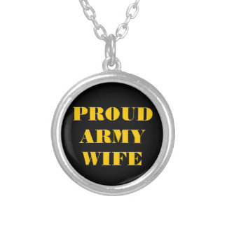 Necklace Proud Army Wife